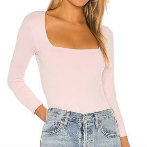 Free People Truth or Square Duo Bodysuit Ballet L
